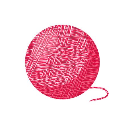 The ball of yarn. Illustration