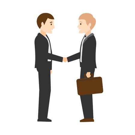 Handshake. Businessmen made a deal. Flat design.
