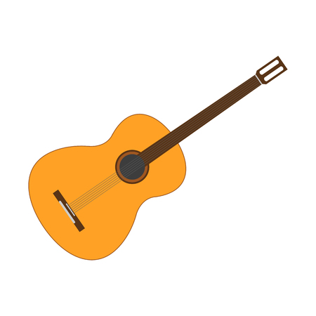 Guitar icon. Vector illustration.