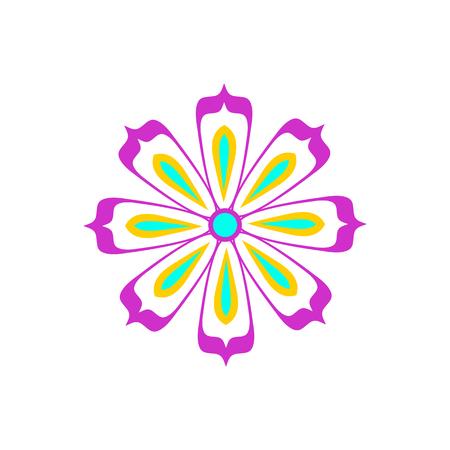 Flower icon. Isolated on white background. Vector illustration. Ilustracja