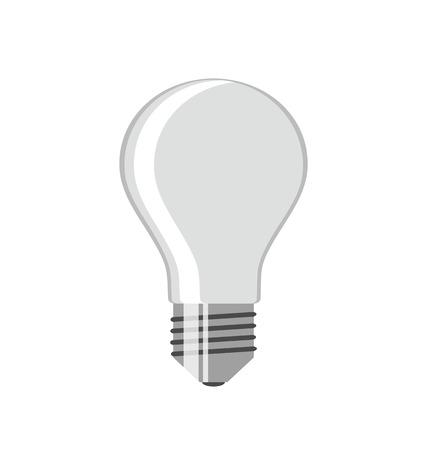 Bulb. Isolated on white background. Vector illustration.