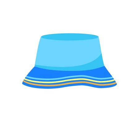 Panama hat. Isolated on white background. Vector illustration. Ilustracja