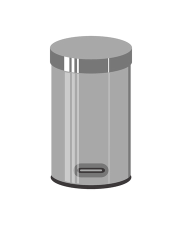 Trash can isolated on white background. Vector illustration.
