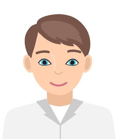 Doctor male avatar. Cartoon style. Vector illustration. Ilustracja