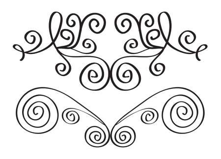 Decorative elements for the design. Borders in retro style. Vector illustration.