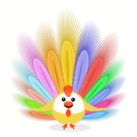 icon picture cockerel cheerful symbol Christmas rooster chicken. with feathers. to spend for design, the press, t-shirts. vector illustration