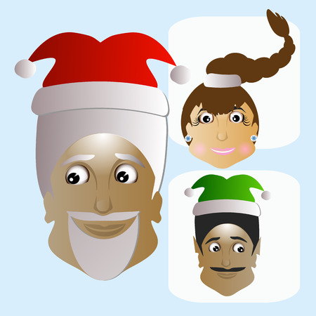 Santa Claus vector icon picture funny unusual new white background a few