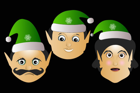 the elves a few icon vector normal clumsy brute on a black background to separate easily. Illustration