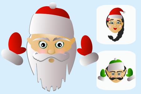 Babbo Natale vettoriale su uno sfondo bianco un paio di no Vettoriali