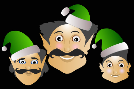 helpers elves merry Christmas new year magic help.