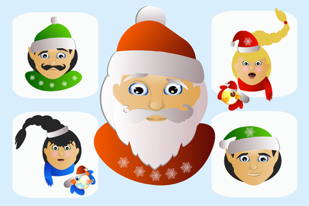 Santa Claus vector icon picture strange exotic special on a white background a few.
