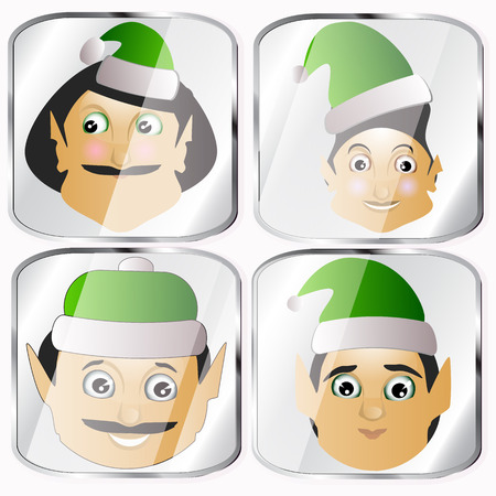 maldestro: the elves a few icon vector normal clumsy rough on a white background to separate easily