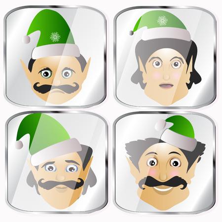 maldestro: gli elfi un'icona pochi vettore normale grezzi goffa su uno sfondo bianco per separare facilmente.