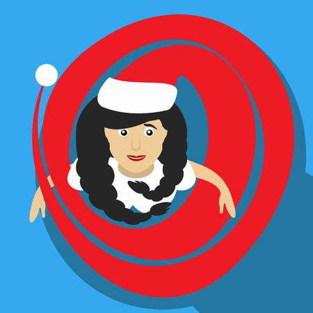 moroz: Snow Maiden llustration in vector format Santa girl Christmas New Year