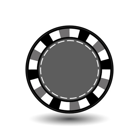 wagers: chips for poker grey in the middle a round and white dotted line the line.