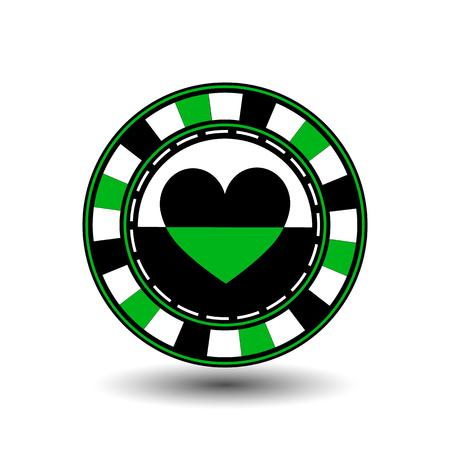 coordinated: gambling chips Illustration
