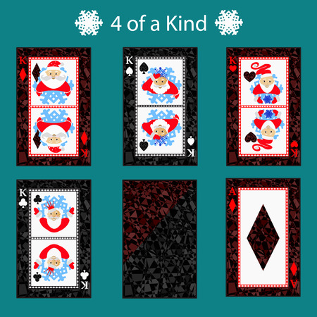 royal house: 4 for of a kinq playing card poker combination.