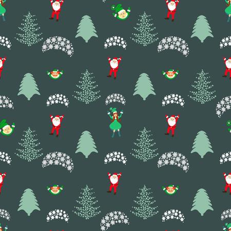 midwinter: Christmas theme. Santa Claus girl Santa Claus on a parachute
