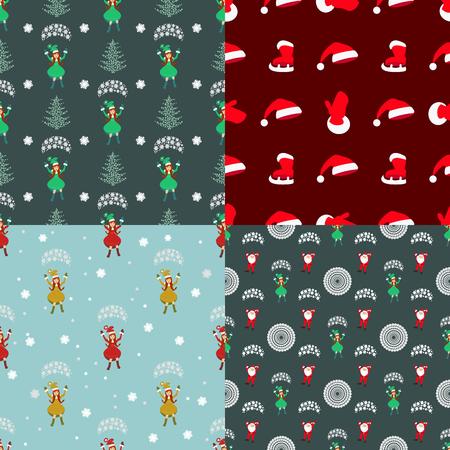 santa s bag: seamless pattern used for printing, websites, design, ukrasheniayya, interior, fabrics, etc.