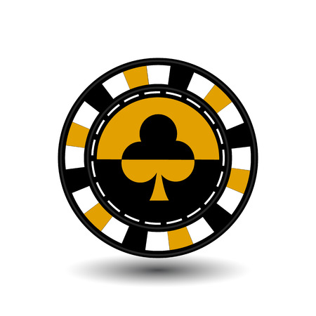 chips for poker yellow a suit club a yellow black and white dotted line the line. Illustration