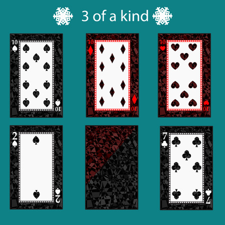 3 free of a kinq playing card poker combination.
