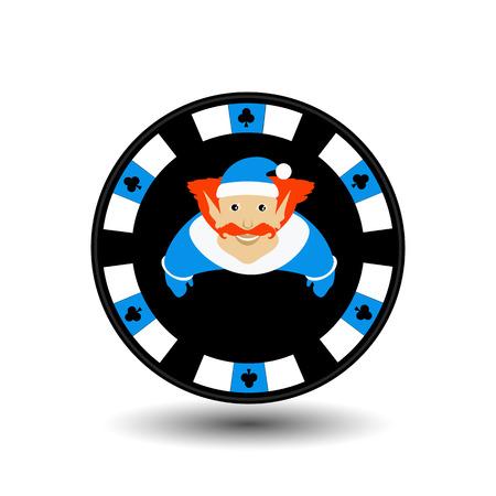 poker chip Christmas new year.