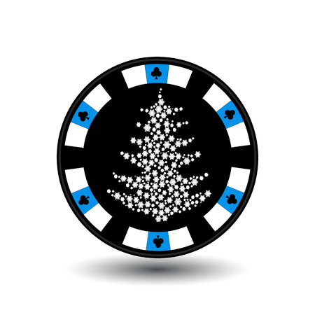 clubs diamonds: chip poker casino Christmas new year.