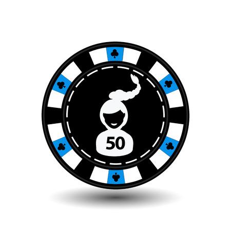 gambler: chip poker casino Christmas new year.