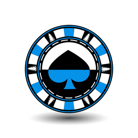 lose up: Poker chip Christmas. Blue.