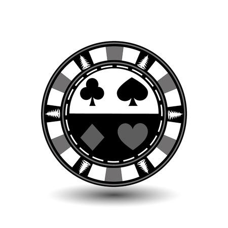 Poker chip Christmas. Gray.