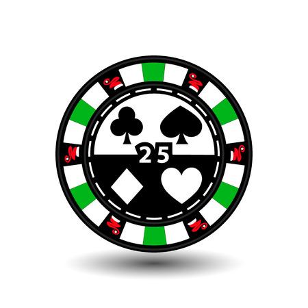 Christmas casino chips. Green.