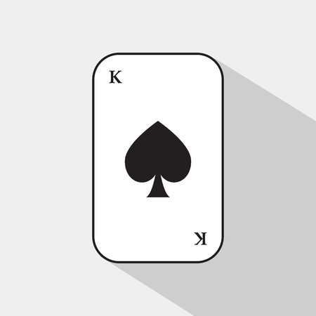 separable: poker card. spade king. white background to be easily separable.