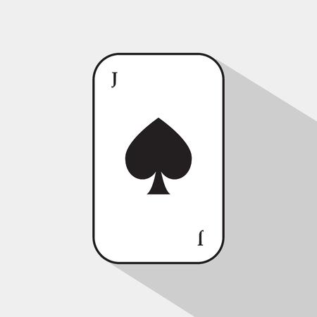 separable: poker card. spade joker. white background to be easily separable. Illustration