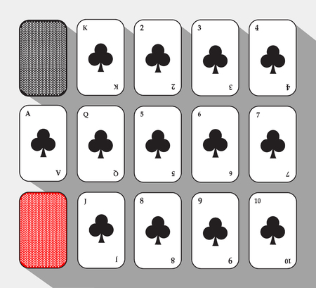 poker card. SET CLUB. white background to be easily separable.