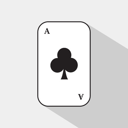 separable: poker card. ACE CLUB. white background to be easily separable.