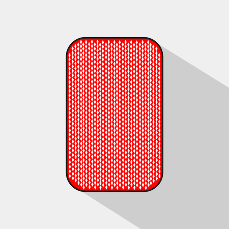 backside: poker card. BACKSIDE. white background to be easily separable. icon illustration image used for print, website, fabrics, decorating, design, etc