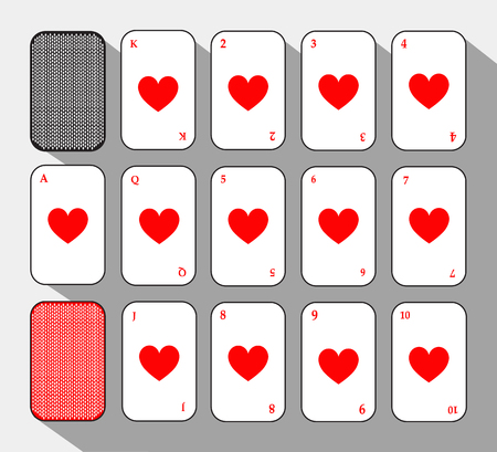 poker card. SET THE HEART. white background to be easily separable. icon illustration image used for print, website, fabrics, decorating, design, etc.