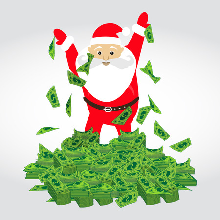 dolar: Dolar. a bunch of mountain of money Santa Claus. Simple fashion symbol for web site design or a button for mobile applications.