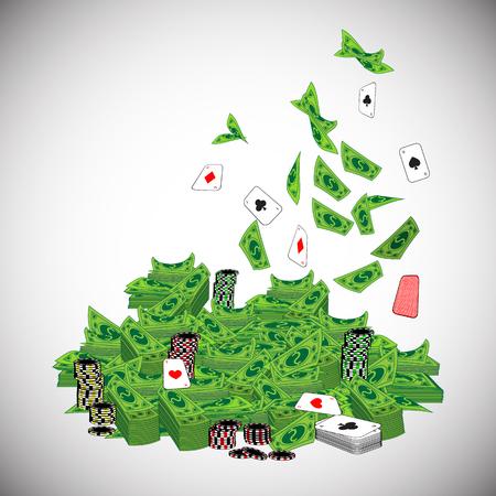 dolar: Dolar. heap, mountain casino money. Simple fashion symbol for web site design or a button for mobile applications.