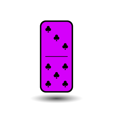 gambling stone: Domino Club. three to five isolated and background. Modern flat icon, business, marketing, internet concept. Fashionable simple symbol vector for web site design or a button for mobile applications. Illustration
