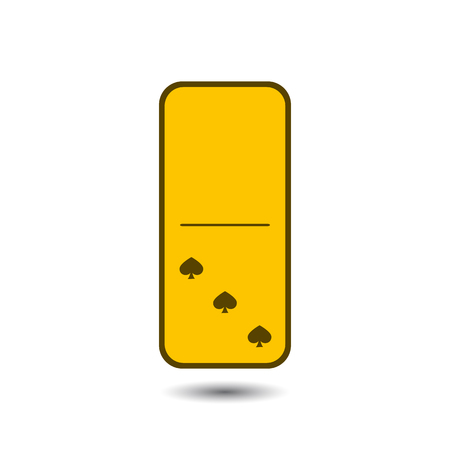 Domino spade. zero and three on isolated background. Modern flat icon, business, marketing, internet concept. Fashionable simple symbol vector for web site design or a on for mobile applications. Logo Illustrations