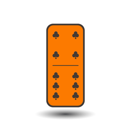 Domino Club. four and six on the isolated background. Modern flat icon, business, marketing, internet concept. Fashionable simple symbol vector for web site design or a on for mobile applications. Logo Illustrations