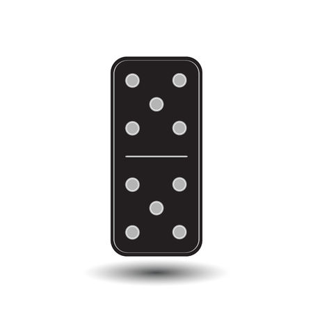 gambling stone: Domino illustration five icon. FOR USE design, decoration, printing, smart phone, website etc Illustration