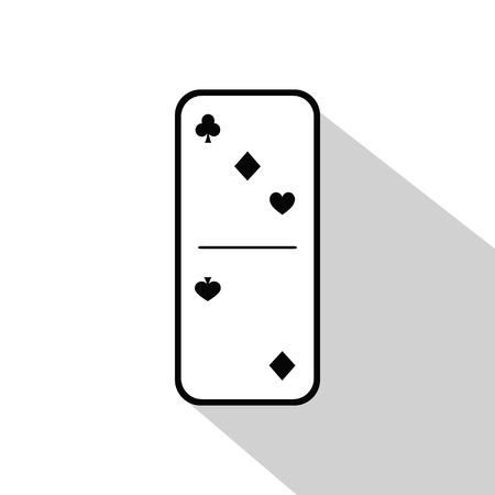 gambling stone: Domino icon illustration Assorted three or two on an isolated background. FOR USE design, decoration, printing, smart phone, website, etc.