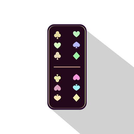 gambling stone: Domino icon illustration Assorted six-six. FOR USE design, decoration, printing, smart phone, website, etc