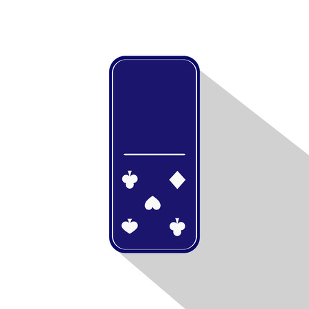gambling stone: Domino icon illustration Assorted zero - five on the isolated background. FOR USE design, decoration, printing, smart phone, website, etc.
