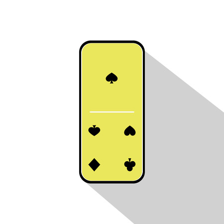 gambling stone: Domino icon illustration assorted one - four on the isolated background. FOR USE design, decoration, printing, smart phone, website, etc.
