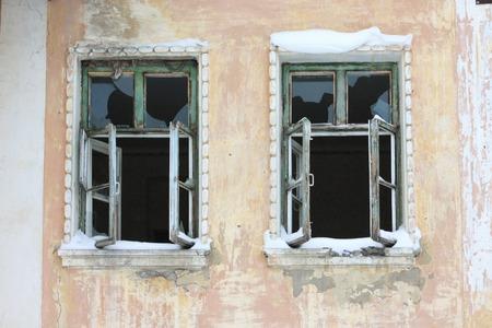 broken house: window broken house vandalism. Use for: Website, phone, computer, printing fabric decoration design etc