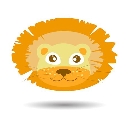 a lion. children s illustration. is used to print, website, smartphone, design, textiles, ceramics fabrics prints postcards packaging etc Illustration