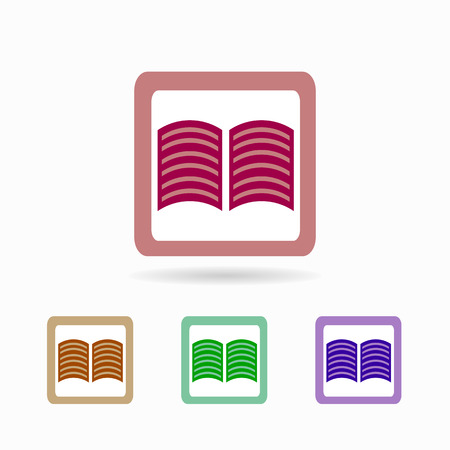open magazine: book icon. isolated on white background Trendy flat style for graphic design, logos, website, social media, UI, mobile application
